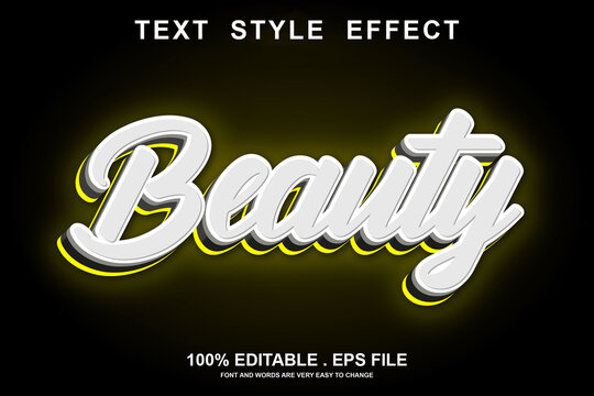 beauty text effect editable
