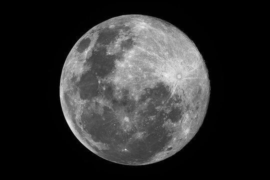 Supermoon, 99.8% illuminated, 15.2-day old Moon, full moon, super worm moon