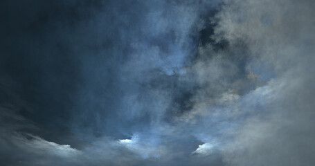 abstract light blue sky and dark clouds shining starry surface aerial texture fog on sky. - fototapety na wymiar