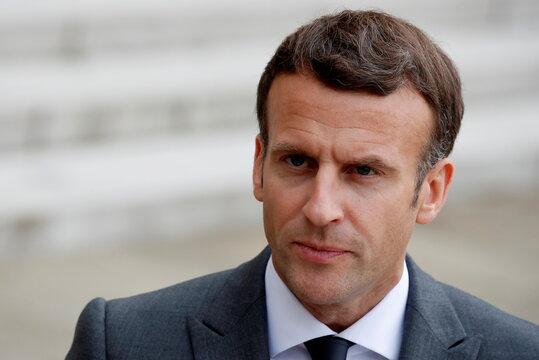 French President Emmanuel Macron meets Argentina's President Alberto Fernandez in Paris