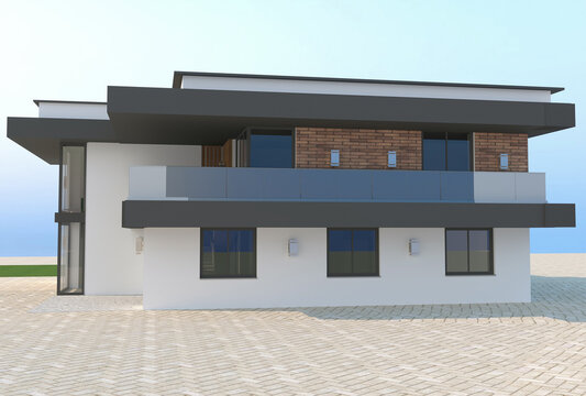 3d rendering of new house exterior design