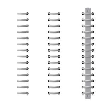 Digital binder ring icon set. Clipart image isolated on white background