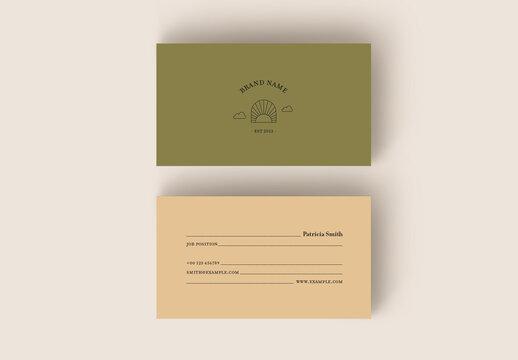 Minimalist Business Card Layout