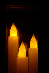 Electric candles for Christmas
