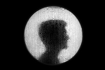 czarno biały silhouette profil mężczyzny