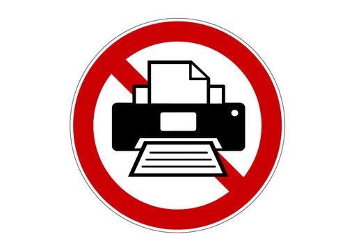 印刷禁止標識