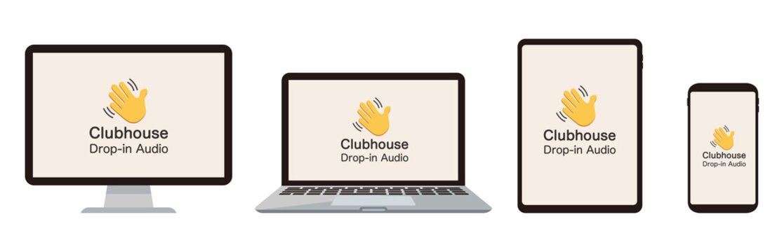 Clubhouse hand sign symbol for invite social network App icon