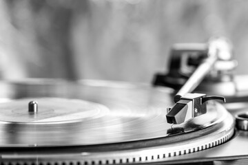 Fototapeta Record player with vinyl record  obraz