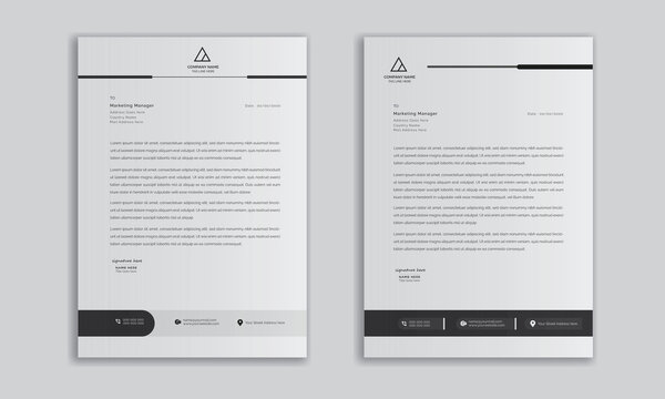 modern business letterhead in abstract design