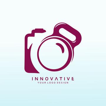 Media Photography vector logo design idea.