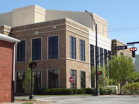 Downtown Intersection in Winston-Salem, North Carolina
