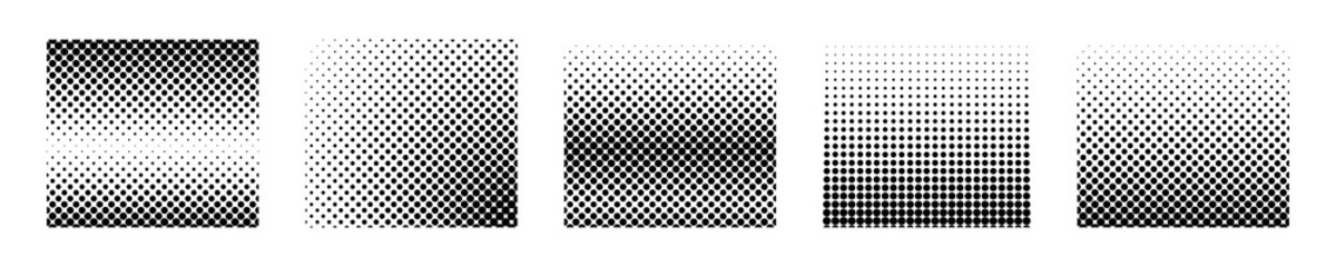halftone vector gradient seamless dot background. geometric fade texture. dotted