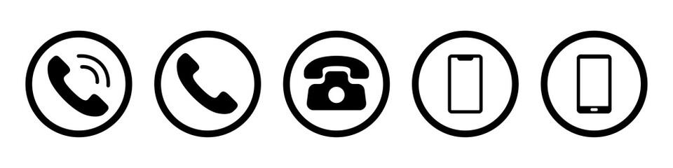 Fototapeta contact icon phone mobile call icon obraz