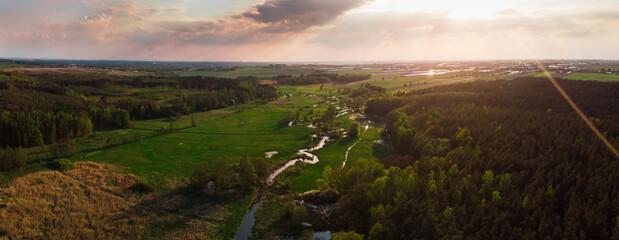Swędrnia mała rzeczka dopływ Prosny w okolicach Kalisza Polska