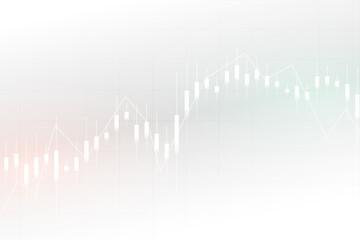 Obraz business forex trading candle stick chart - fototapety do salonu