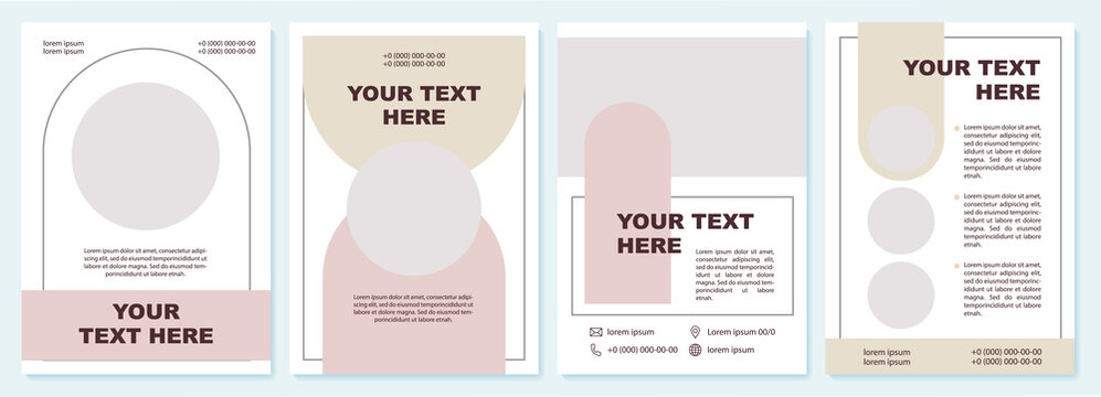 Business advert contemporary brochure template. Flyer, booklet, leaflet print, cover design with copy space. Your text here. Vector layouts for magazines, annual reports, advertising posters