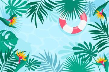 Hand Drawn Summer Background - fototapety na wymiar