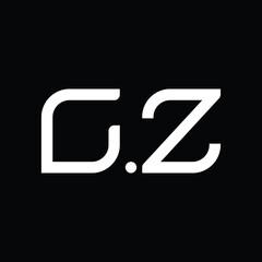 Fototapeta CZ Logo monogram abstract design template obraz