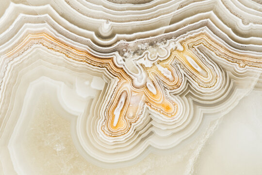 Macro texture photography of the colors and patterns in a Lace agate from Mexico