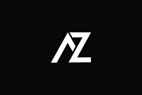 AZ Letter Logo Design. Creative Modern A Z Letters icon vector Illustration.