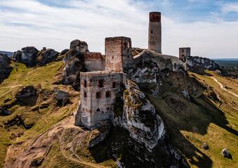 Castle ruins in Olsztyn near Częstochowa, Poland