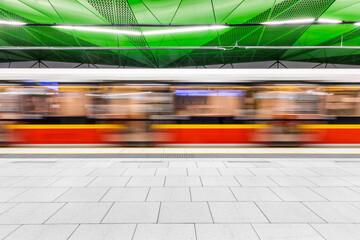 Fototapeta Metro w Warszawie obraz