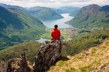 Fototapeta Lago di Lugano dal Rifugio Menaggio obraz