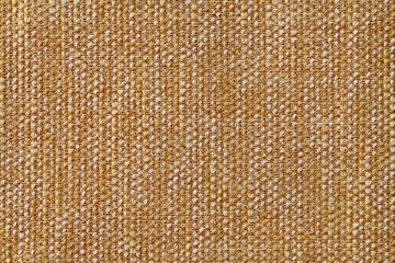 Fabric texture canvas. Cotton background. Detail close up for dress or other modern fashion textile print. Beige and orange textured design.