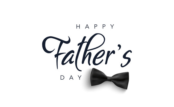 Father's Day greeting card with bow tie. Vector illustration background for sale, promotion, shopping, web, social media.