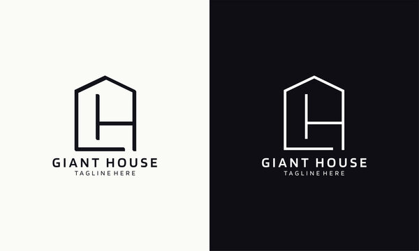 Giant house logo. Clean house logo for real estate company. Modern and elegant style design. Illustration vector