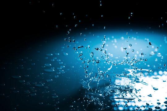 Broken drop of water background