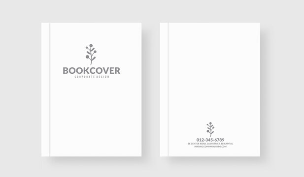 Minimal white book cover template for your business