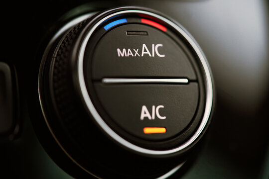 Car air conditioning system. Air condition switched on