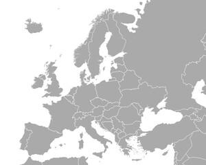 Fototapeta Karte von Europa obraz