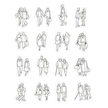 恋人たちの線画