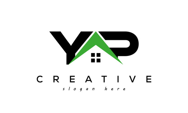 initial YP real estate logo vector