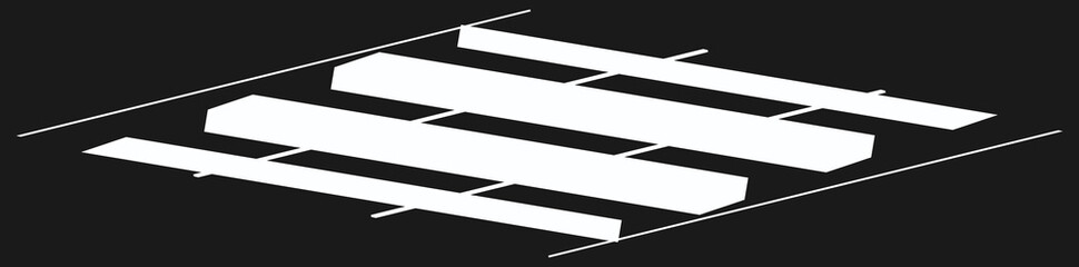 Grid, mesh of dynamic diagonal, oblique lines, stripes Wall mural