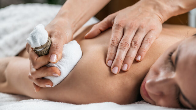 Herbal Ball Compress Massage