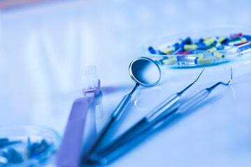 Close-up Dental Instruments Wall mural