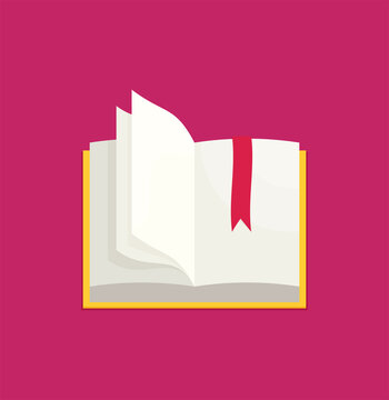 Flat book, vector eps10 illustration