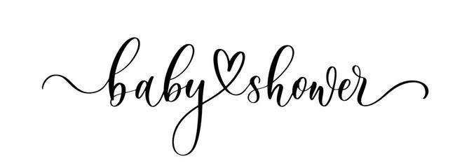 Fototapeta Baby Shower. Wavy elegant calligraphy spelling for decoration on holidays. obraz