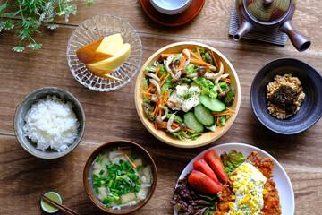 Fototapeta 健康に良い日本食のイメージ obraz