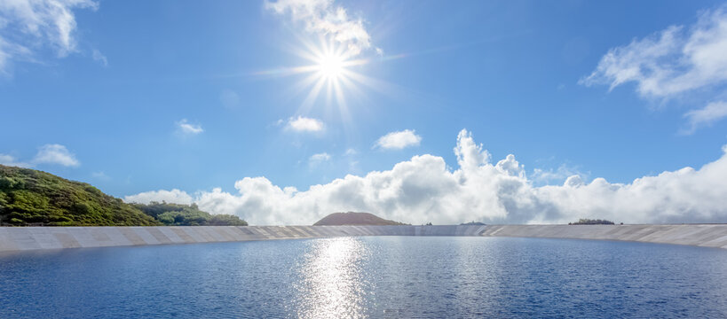 Retenue collinaire de Piton Marcelin, Plaine des Cafres, île de la Réunion