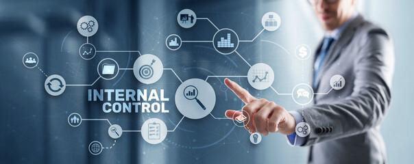 Obraz Internal control on virtual screen. Accounting and audit - fototapety do salonu
