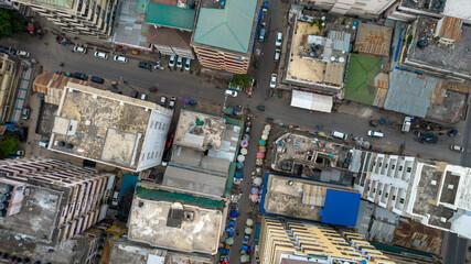 aerial view of Dar es Salaam, Tanzania - fototapety na wymiar