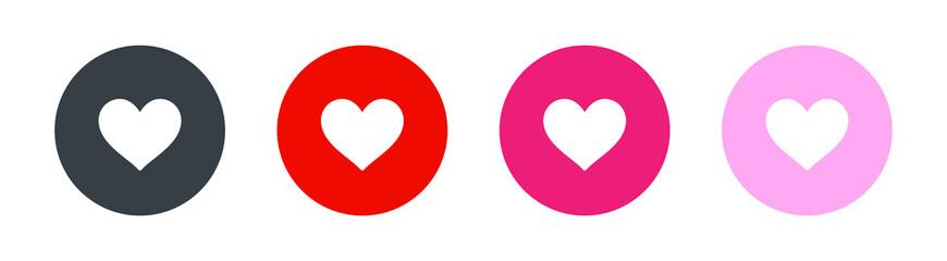 Fototapeta Heart love icon. Vector illustration obraz