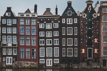 Gingerbread houses  in Amsterdam