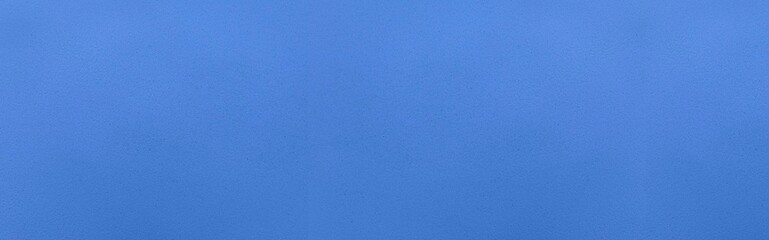 Panorama of Cement wall painted blue texture and background seamless