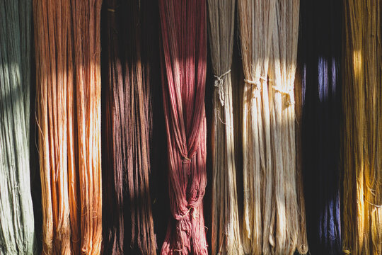 Full Frame Shot Of Silk Hanging