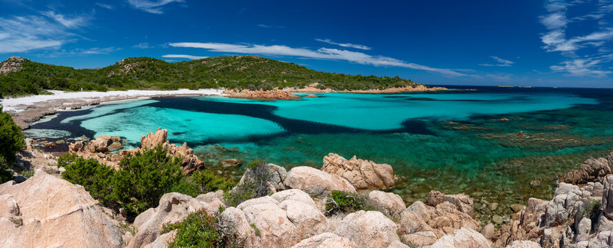 Emerald sea in the Principe beach, Costa Smeralda, Olbia, Arzachena - Sardinia
